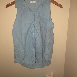 Abercrombie & Fitch Chambray Button Up Top